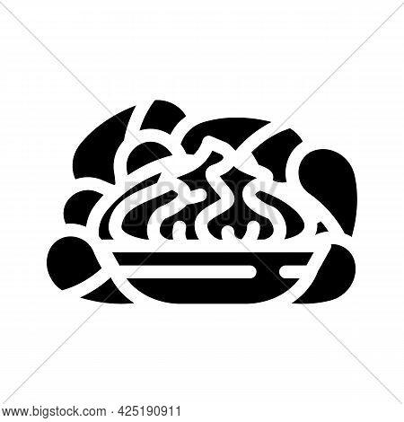 Crisps Wasabi Glyph Icon Vector. Crisps Wasabi Sign. Isolated Contour Symbol Black Illustration