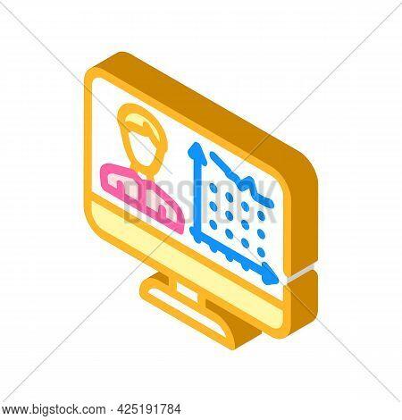 Client Activity Analysis Kyc Isometric Icon Vector. Client Activity Analysis Kyc Sign. Isolated Symb