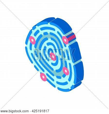 Fingerprinting Client Kyc Isometric Icon Vector. Fingerprinting Client Kyc Sign. Isolated Symbol Ill