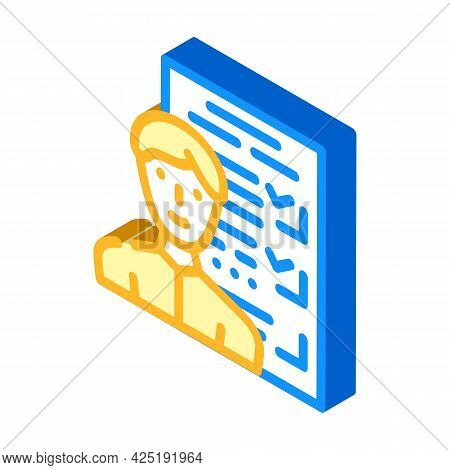 Customer Questionnaire Kyc Isometric Icon Vector. Customer Questionnaire Kyc Sign. Isolated Symbol I