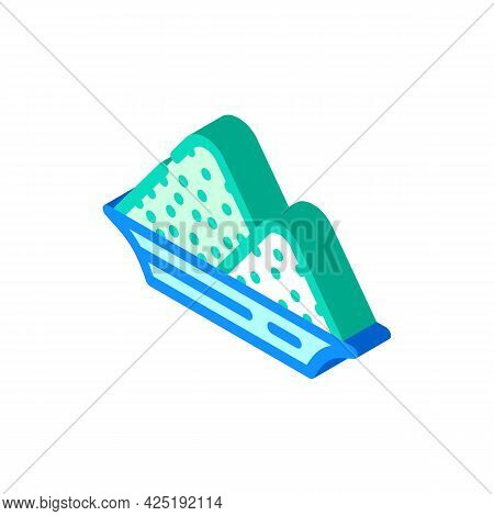 Salt Heap In Plate Isometric Icon Vector. Salt Heap In Plate Sign. Isolated Symbol Illustration