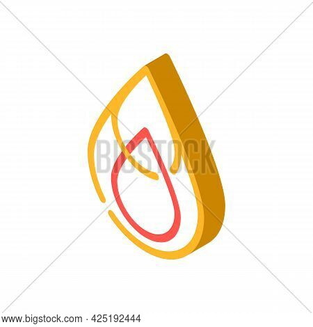 Saturated Fat Isometric Icon Vector. Saturated Fat Sign. Isolated Symbol Illustration
