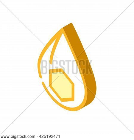 Fats Nutrition Fact Isometric Icon Vector. Fats Nutrition Fact Sign. Isolated Symbol Illustration