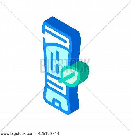 Natural Tinted Moisturizer Isometric Icon Vector. Natural Tinted Moisturizer Sign. Isolated Symbol I