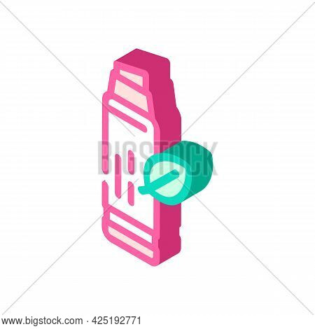 Lip Balm Isometric Icon Vector. Lip Balm Sign. Isolated Symbol Illustration