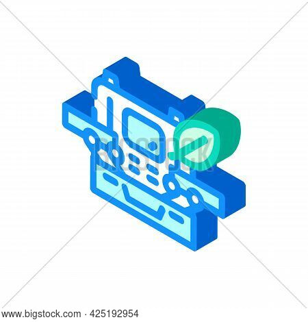 Case With Makeup Isometric Icon Vector. Case With Makeup Sign. Isolated Symbol Illustration