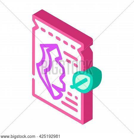 Sheet Mask Isometric Icon Vector. Sheet Mask Sign. Isolated Symbol Illustration