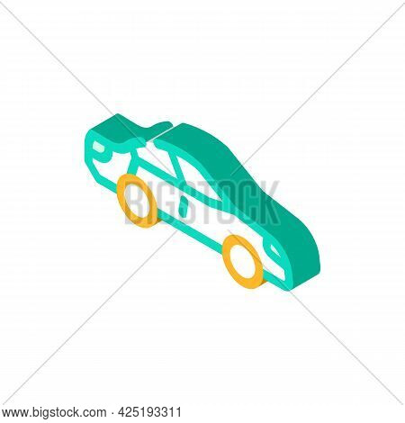 Car Parking Isometric Icon Vector. Car Parking Sign. Isolated Symbol Illustration