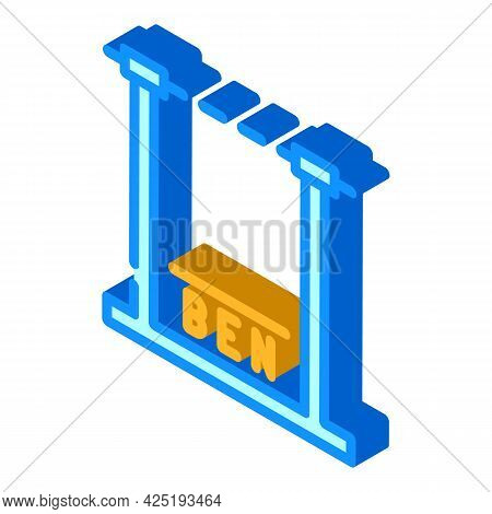 Height Control Parking Gate Isometric Icon Vector. Height Control Parking Gate Sign. Isolated Symbol