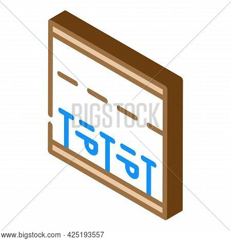 Parking Places On Road Isometric Icon Vector. Parking Places On Road Sign. Isolated Symbol Illustrat
