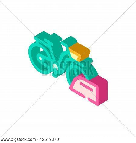 Bicycle Parking Isometric Icon Vector. Bicycle Parking Sign. Isolated Symbol Illustration