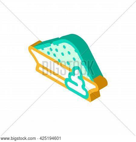 Powder Wasabi Isometric Icon Vector. Powder Wasabi Sign. Isolated Symbol Illustration