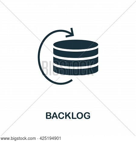 Backlog Icon. Simple Creative Element. Filled Monochrome Backlog Icon For Templates, Infographics An