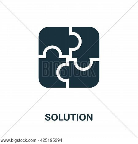 Solution Icon. Simple Creative Element. Filled Monochrome Solution Icon For Templates, Infographics