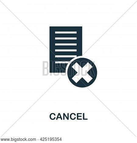 Cancel Icon. Simple Creative Element. Filled Monochrome Cancel Icon For Templates, Infographics And