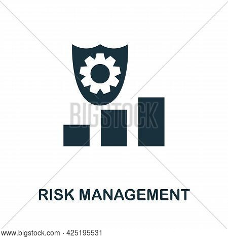 Risk Management Icon. Simple Creative Element. Filled Monochrome Risk Management Icon For Templates,
