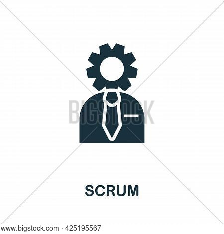 Scrum Icon. Simple Creative Element. Filled Monochrome Scrum Icon For Templates, Infographics And Ba