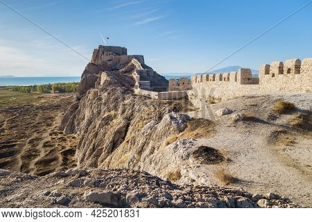Fortifications Of Van Fortress, Van, Turkey. It Was Founded In 9 Century Bc By Urartians & Expanded