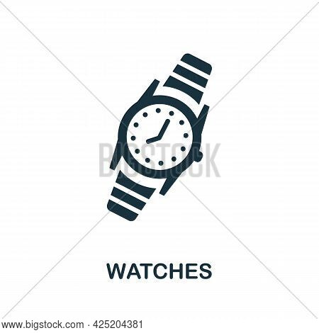 Watches Icon. Simple Element From Jewelery Collection. Creative Watches Icon For Web Design, Templat