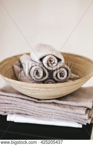 Small Kitchen Towels Rolled Up Bath Towels