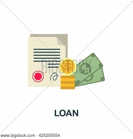 Loan Icon. Flat Sign Element From Credit Collection. Creative Loan Icon For Web Design, Templates, I