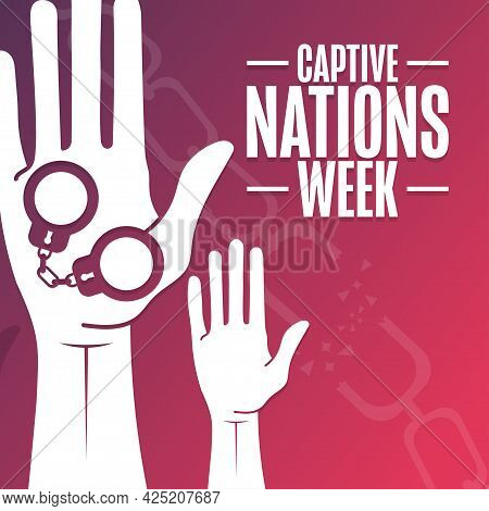 Captive Nations Week. Holiday Concept. Template For Background, Banner, Card, Poster With Text Inscr
