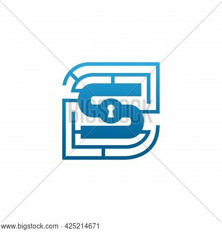 Initial Letter S Security Logo Design Template Vector. Modern Logo Of Creative Letter S Security Tec