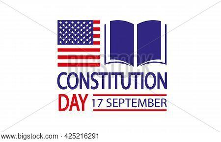 American Constitution Day Badge, Vector Art Illustration.