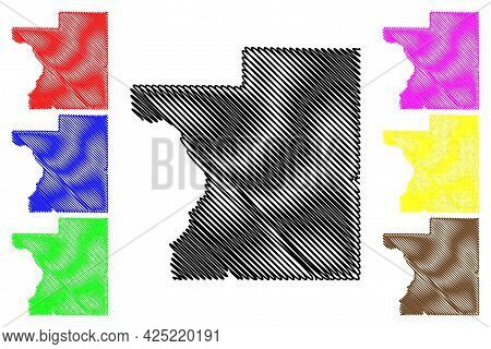 Polk County, State Of Wisconsin (u.s. County, United States Of America, Us) Map Vector Illustration,