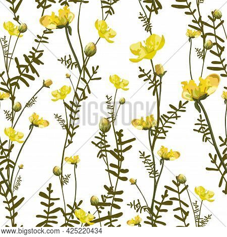 Floral Floral Pattern. Modern Floral Shapes Seamless Pattern. Modern Exotic Designs For Paper, Cover
