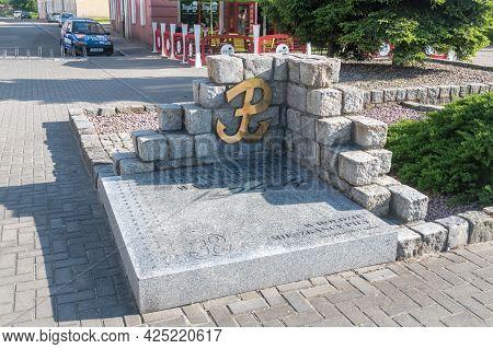 Pila, Poland - May 31, 2021: Memorial To Heroes Of Warsaw Uprising.