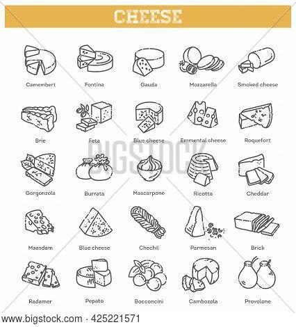 Includes Various Cheese Types - Maasdam, Brie, Gouda, Mozzarella, Swiss Cheese, Parmesan, Emmental,
