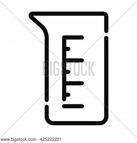 Icon Of Chemistry Beaker. Bold Outline Design With Editable Stroke Width. Vector Illustration.