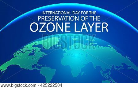 Planet To Ozone Layer Preservation International Day, Vector Art Illustration.