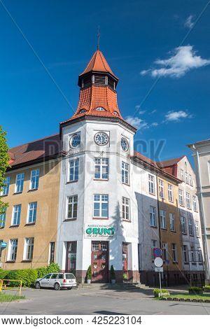 Pila, Poland - May 31, 2021: Historical Building City Center Of Pila.