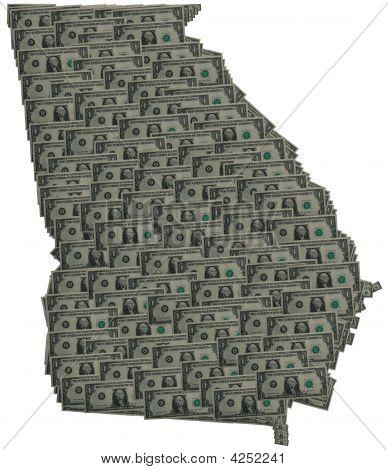 Georgia Dollar Outline