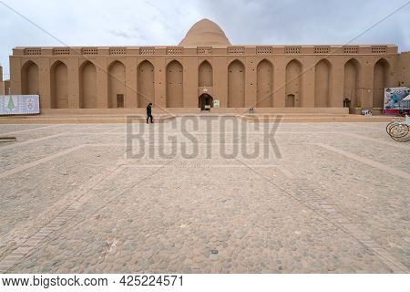 Meybod, Iran - 04.14.2019: Exterior Of Yakhchal, Medieval Cooling Chamber Used To Store Ice In Hot S