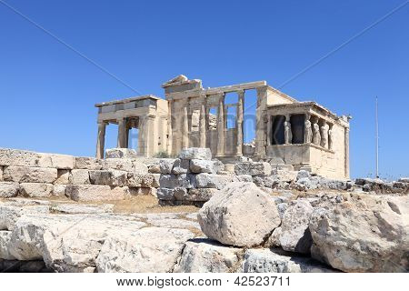 Landscape Of Erechtheum Ancient Temple