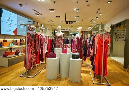 SINGAPORE - CIRCA JANUARY, 2020: interior shot of Style Theory store in Singapore.