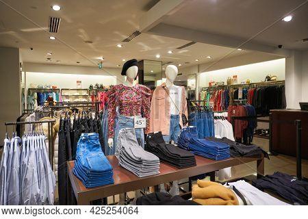 SINGAPORE - CIRCA JANUARY, 2020: interior shot of Zara store in Singapore.
