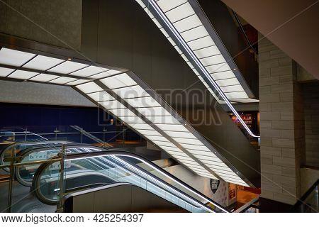 SINGAPORE - CIRCA JANUARY, 2020: interior shot of a shopping center in Singapore.