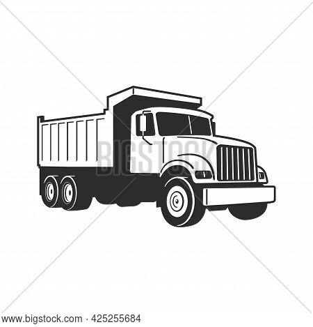 Vector Cartoon Dump Truck. Tipper Truck. Vector Cartoon Dump Truck. Vector Cartoon Dump Truck. Tippe