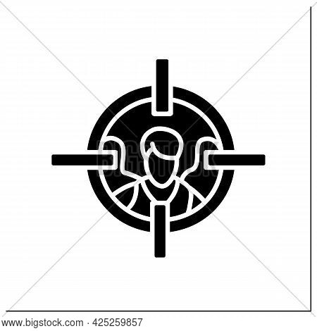 Target Audiences Glyph Icon.focus Group.marketing Segmentation. Filled Flat Sign. Isolated Silhouett