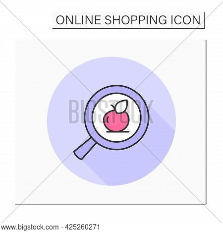 Product Search Button Color Icon. Digital Retail Store Website Or App Element, Digital Business, E-c