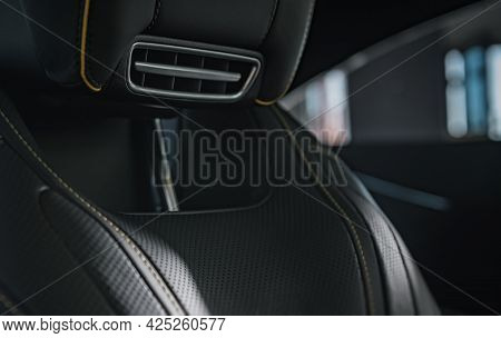 Vehicle Seat Built In Neck Heater. Modern Automotive Features Theme.