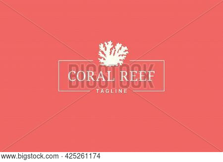Coral Reef Logo. Reef On Coral Background