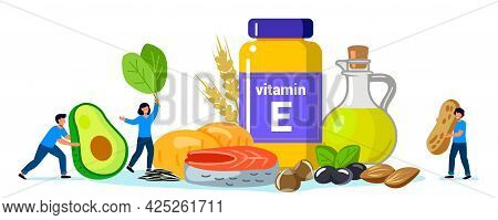 Vitamin E Foods Containing Tocopherol Sunflower Seeds, Sunflower Oil, Herbs, Olives, Fish, Peanut, H