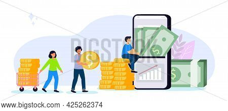 Invest In Best Idea Investment And Analysis Money Cash Profits Metaphor Flat Design And Business Con