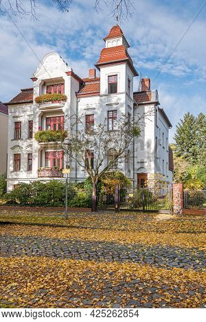 Berlin, Germany - October 25, 2020: Residential Building At Mommsenstrasse, A Listed Cultural Monume