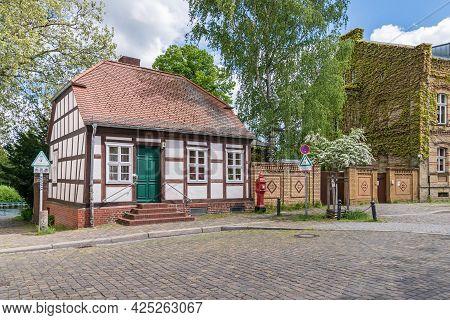 Berlin, Germany - Mai 23, 2021: The Street Kolk Located On The Former Island Behnitz, One Of The Old